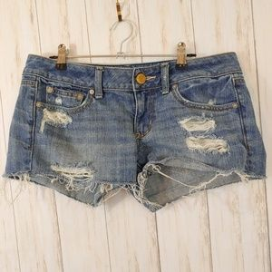 American Eagle Destroyed Cut Off Shorts Size 6